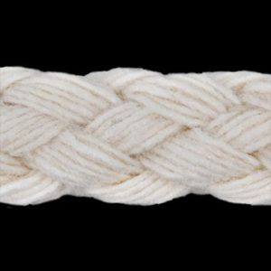 L6000 Round Cotton Braided Clothing Cord 7 mm