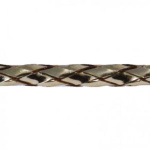 Q3303 Round Braided Lurex 1mm